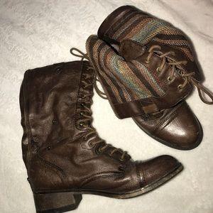 Steven madden brown combat boots